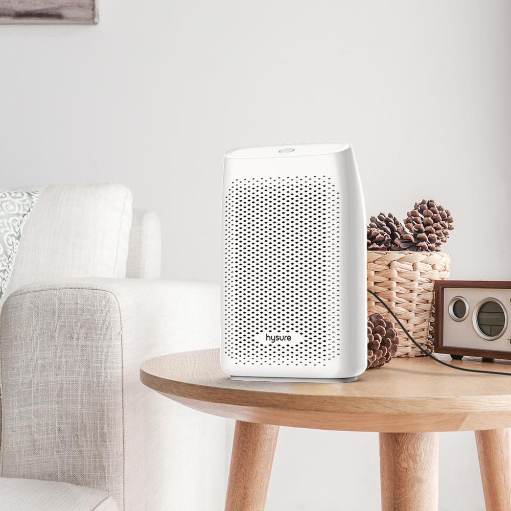 hysure 700ml Dehumidifier, Removes Humidity 300ml/day, Electric Damp Absorber, 700ml Water Tank