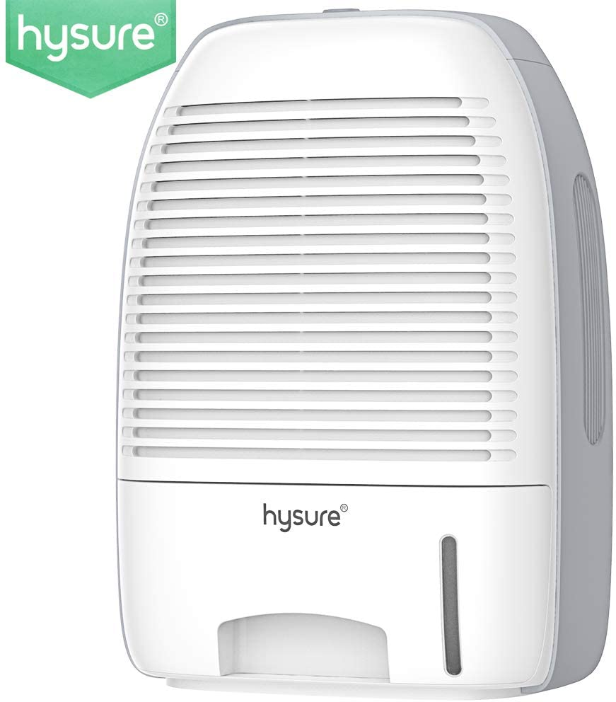 hysure Portable Mini Dehumidifier 2200 Cubic Feet Electric Safe Dehumidifier for Bedroom